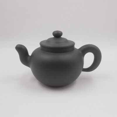 Dark Green Round teapot