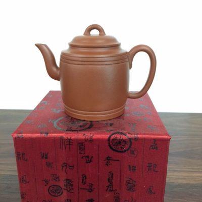 Double Line Round Zhuni clay yixing teapot