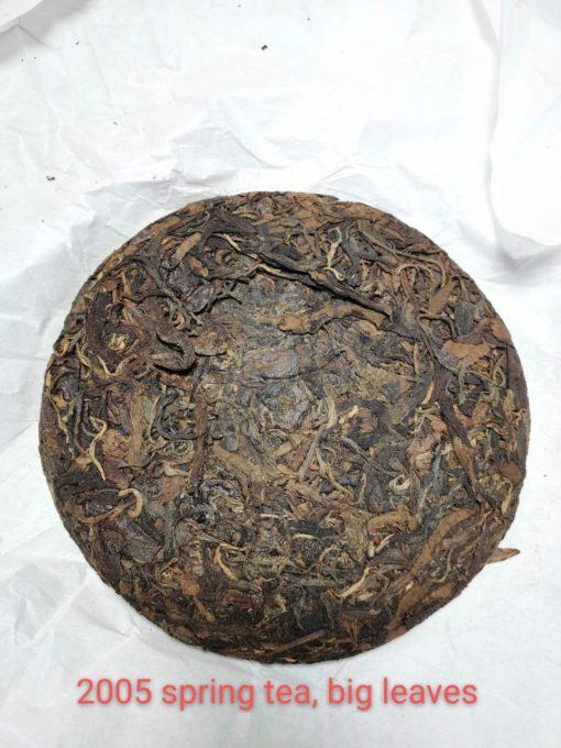 Unique Old tea tree Pu erh tea cake Year 2005