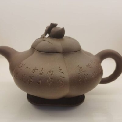 Peach purple clay teapot