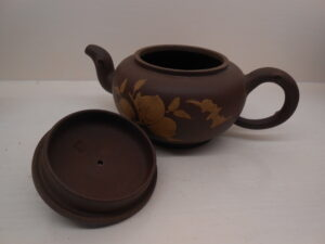 Longevity and good fortune round Yixing teapot
