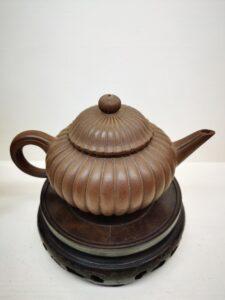 Perfectly shaped Chrysanthemum Purple clay teapot